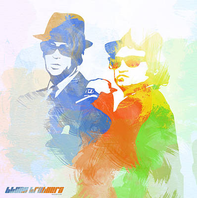 Jazz Digital Art - Blues Brothers by Naxart Studio