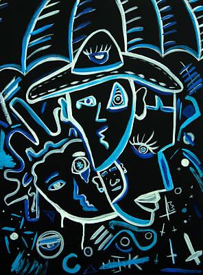 Blues Face Print by Kenal Louis