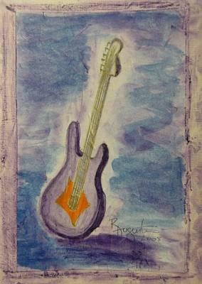 Blues Guitar Original by Rosemary Augustine