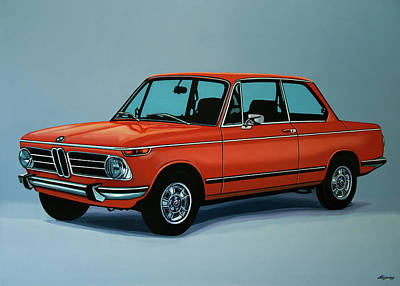Bmw 2002 1968 Painting Print by Paul Meijering