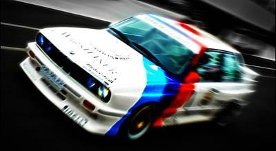 Phil Motography Clark Photograph - Bmw E30 M3 Racing by Phil 'motography' Clark
