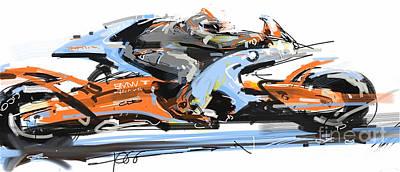 Bmw Racer 2 Print by Peter Fogg