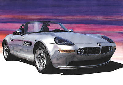 Convertible Painting - Bmw Z8 by Rod Seel