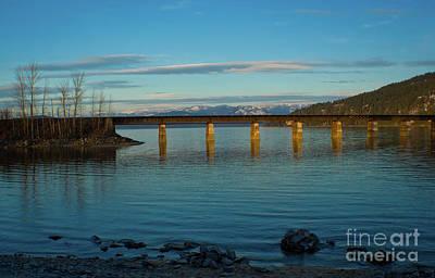 Bnsf Bridge Print by Idaho Scenic Images Linda Lantzy