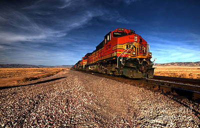 Train Photograph - Bnsf Freight  by Rob Hawkins