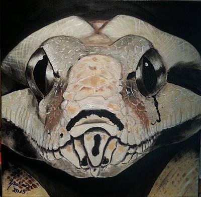 Boa Head Original by Judit Szalanczi