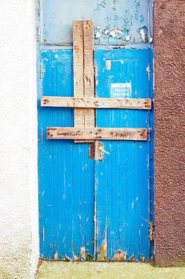 Boarded Up Door Print by Tom Gowanlock