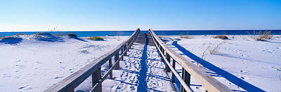 Pensacola Beach Photograph - Boardwalk At Santa Rosa Island by Panoramic Images