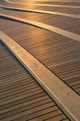 Converging Photograph - Boardwalk by Sebastian Musial