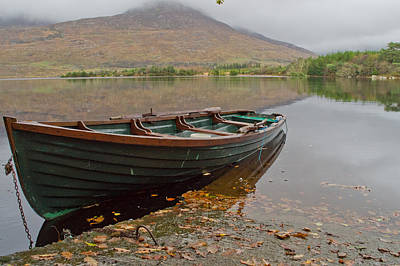 Connemara Photograph - Boat At Ballynahinch Castle by Deborah Squires