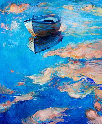 Creativity Drawing - Boat At Sea by Boyan Dimitrov