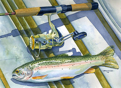 Boat Bottom Trout Print by Mark Jennings
