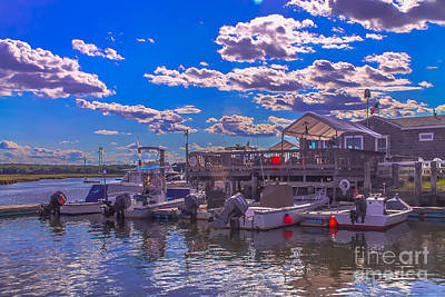 Wooden Platform Photograph - Boat Club In Hampton by Claudia M Photography