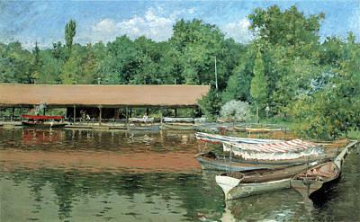 Boat House Prospect Park Print by William Merritt Chase