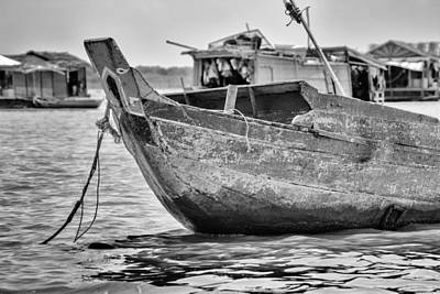 Boat On The Tonle Sap Print by Georgia Fowler
