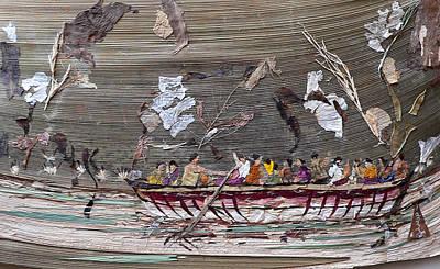 Enjoyment Mixed Media - Boat Picnic by Basant Soni