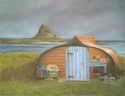 Boat Shed At Lindisfarne Original by Fiona Rowley