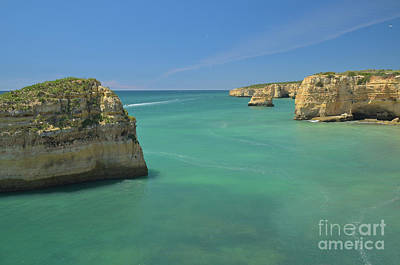 Sunset Photograph - Boat Tour By The Cliffs In Algarve by Angelo DeVal