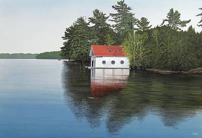 Boathouse Original by Kenneth M  Kirsch