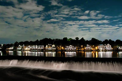 Photograph - Boathouse Row - Nights Reflection by Bill Cannon