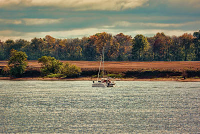 Boating In Autumn 2 Print by Jai Johnson