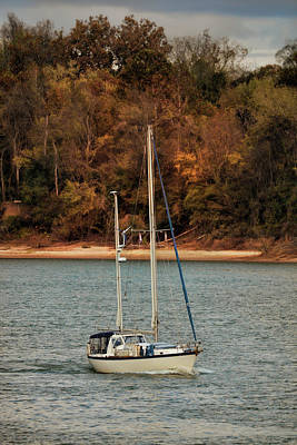 Boating In Autumn Print by Jai Johnson