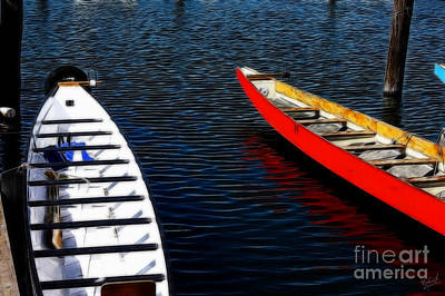 Boats At An Empty Dock 4 Print by Nishanth Gopinathan
