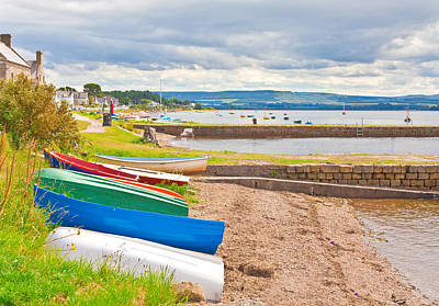 Boats At Findhorn Print by Tom Gowanlock