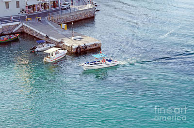 Photograph - boats in Crete Island by Fine art Photographs