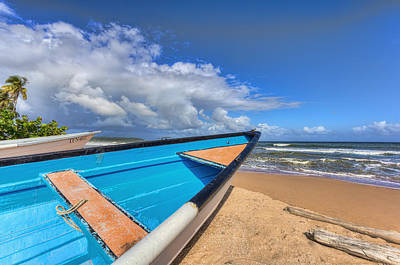 Ocean Photograph - Boats In Mayaro by Nadia Sanowar