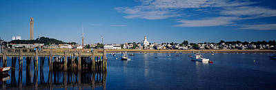 Boats In The Sea, Provincetown, Cape Print by Panoramic Images