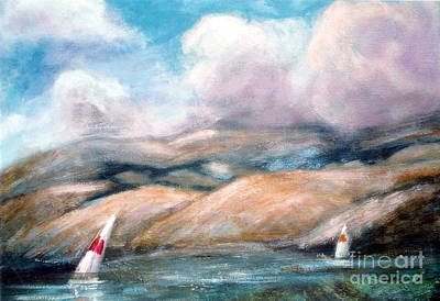The Hills Mixed Media - Sailing Toward Home by Marcy  Orendorff