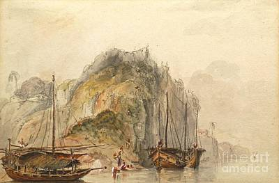 7th Painting - Boats On The Nile Near Carporne by MotionAge Designs