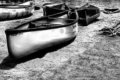 Boats On The Sand Print by David Patterson