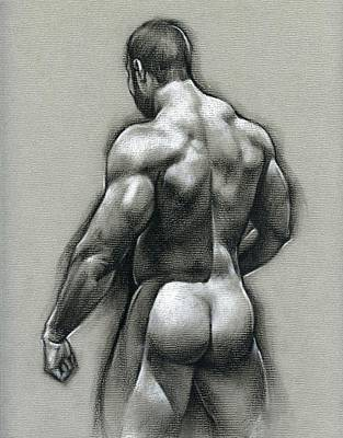 Male Nude Drawing Drawing - Bob by Chris  Lopez