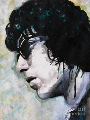 Bob Dylan Print by Chrisann Ellis