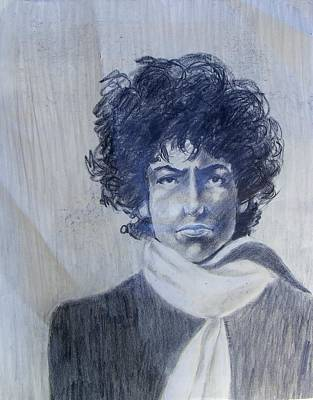 Bob Dylan Drawing - Bob Dylan In The Rock Years by Judith Redman