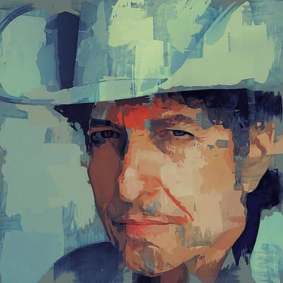 Bob Dylan Digital Art - Bob Dylan Portrait by Yury Malkov