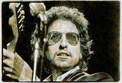 Bob Dylan Digital Art - Bob Dylan by Riccardo Zullian