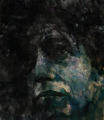 Icon Mixed Media - Bob Dylan Tangled Up In Blue Retro by Paul Lovering