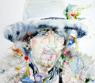 Bob Dylan - Watercolor Portrait.11 Original by Fabrizio Cassetta