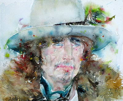 Bob Dylan - Watercolor Portrait.12 Original by Fabrizio Cassetta