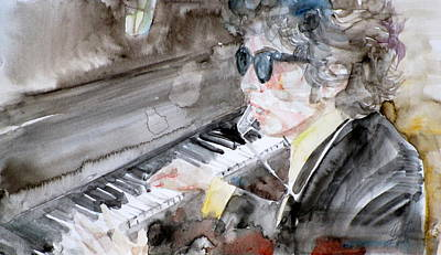 Bob Dylan - Watercolor Portrait.14 Original by Fabrizio Cassetta