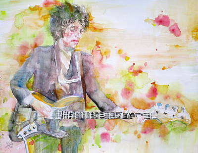 Bob Dylan - Watercolor Portrait.15 Original by Fabrizio Cassetta