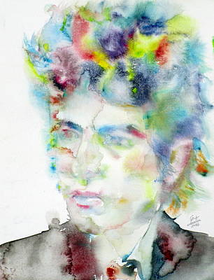 Bob Dylan - Watercolor Portrait.4 Original by Fabrizio Cassetta
