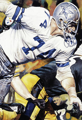 Dallas Cowboys Painting - Bob Lilly by Rich Marks