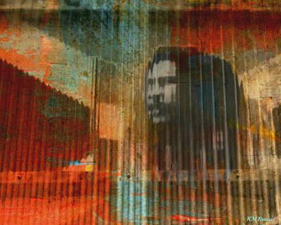 Bob Marley Abstract II Print by Kathy M Krause