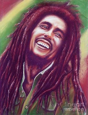 Pastel Portraits Painting - Bob Marley by Anastasis  Anastasi