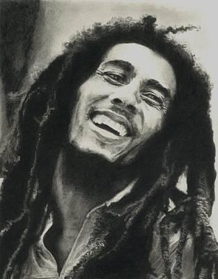 Famous People Drawing - Bob Marley by Dan Lamperd