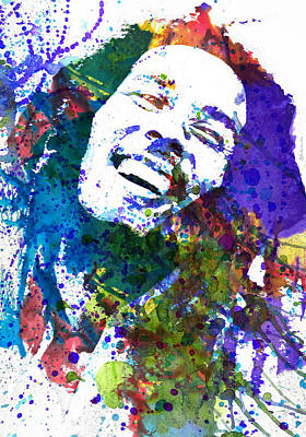 Celebrities Painting - Bob Marley by Dante Blacksmith